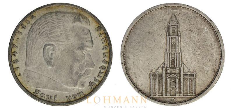 5 Reichsmark Silbermünzen Deutsches Reich