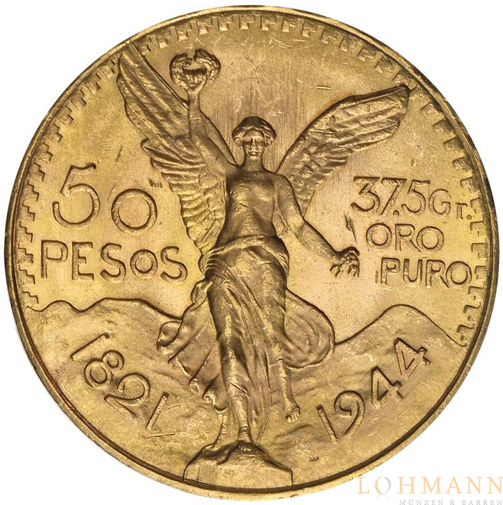 50 Pesos Goldmünze