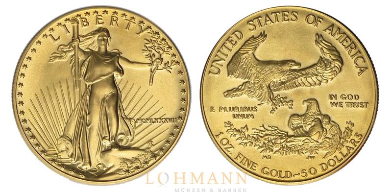 American Gold Eagle Anlagemünze Aus Den Usa