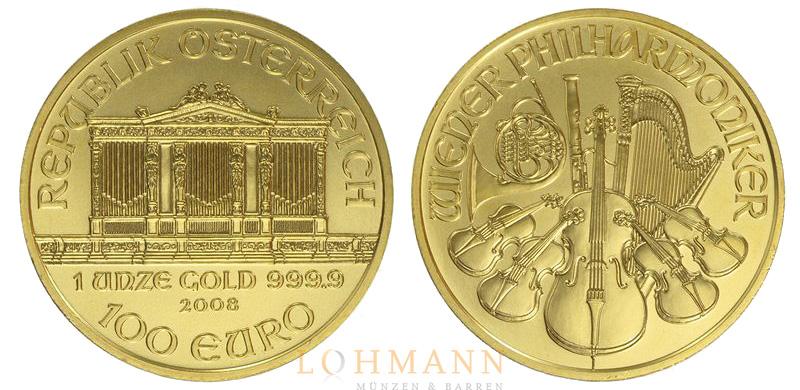 Wiener Philharmoniker Goldmünze Aus österreich