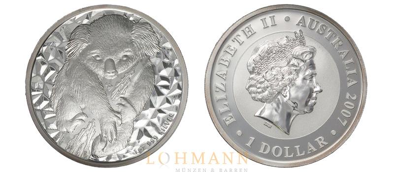 Silber Koala Silbermünze Aus Australien