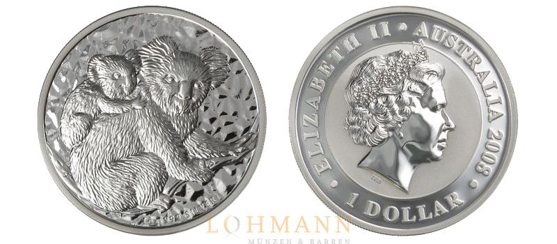 Silber Koala Auflage