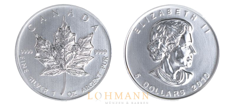 Maple Leaf Silbermünze Aus Kanada