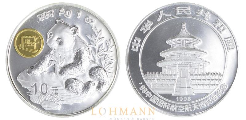 China Silber Panda Sonderprägungen Messe U Bankenpandas