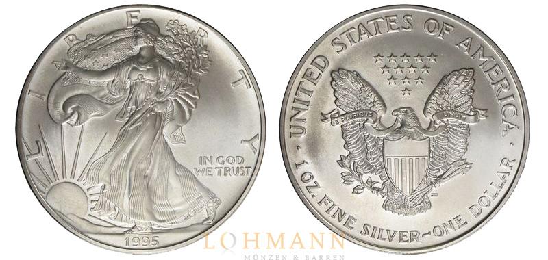 American Silver Eagle Silbermünze Aus Den Usa